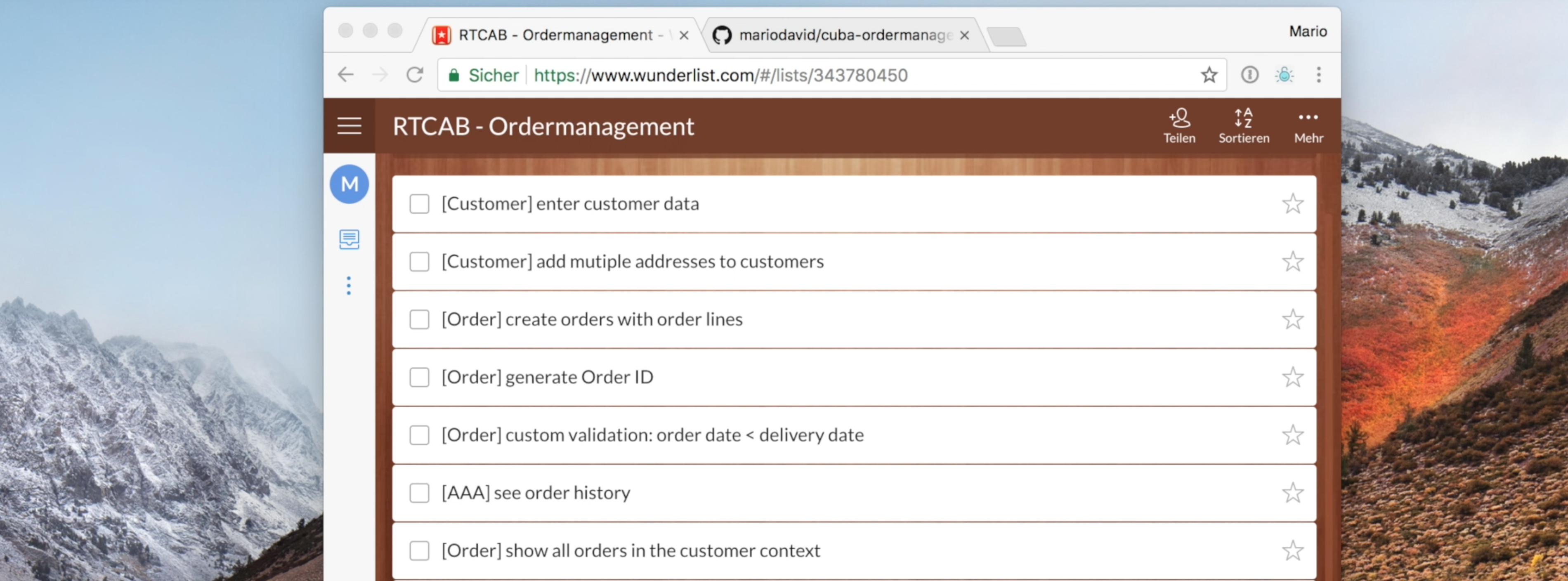 Create an ordermanagement app with CUBA